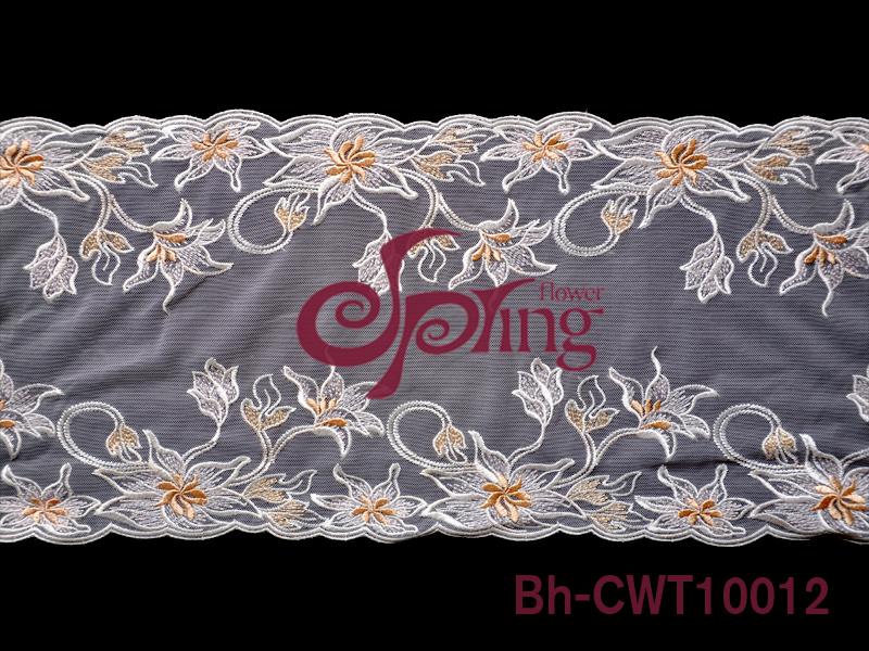 刺绣花边所展现的形式会以网布花