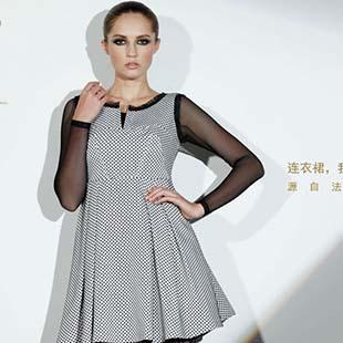 源自法兰西的时尚元素 古舞花色连衣裙期待您的加盟