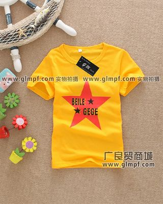 2014夏季儿童服装批发夏装儿童短袖T恤批