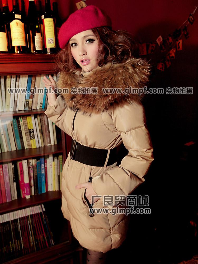 反领女装长袖条纹羽绒防寒装批发时尚女装长袖羽绒防寒装批发