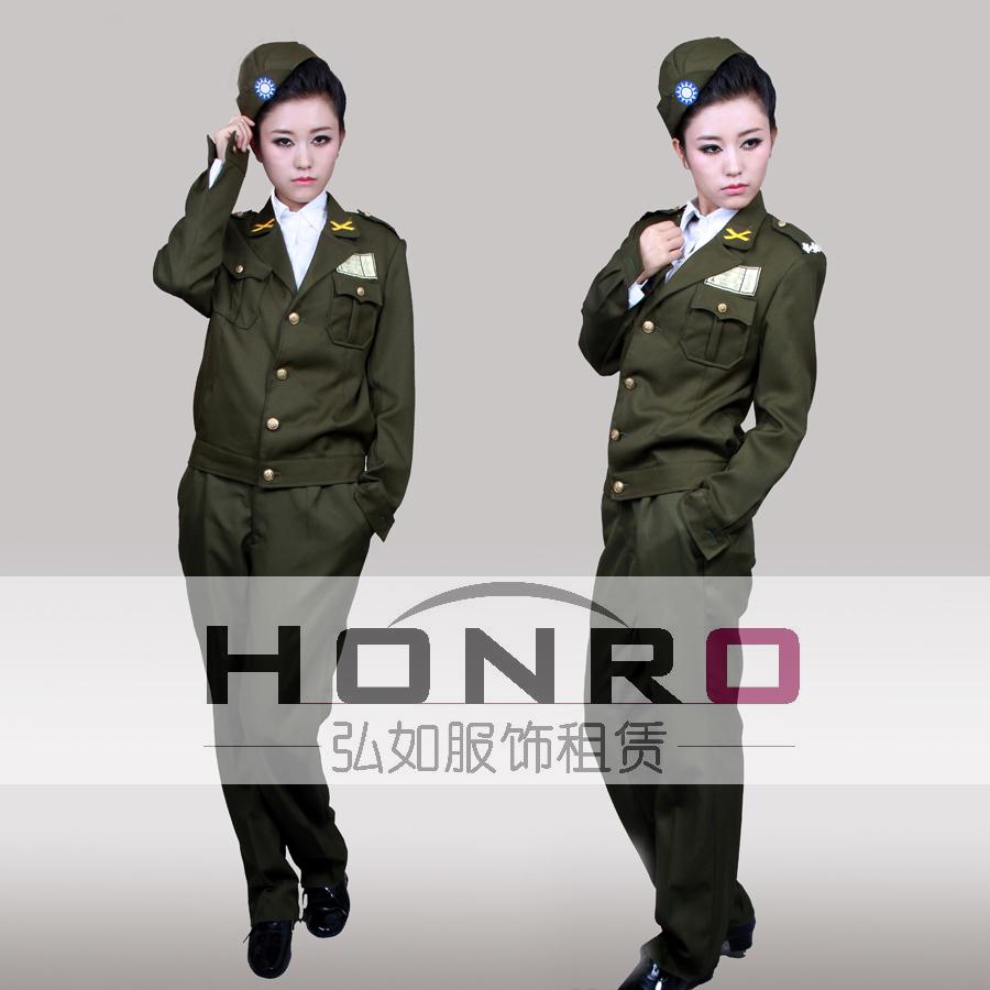 上海国民党女军装租赁杨浦区影视军装租赁