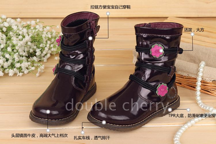 外貿工廠直營-意大利二顆櫻桃精品童鞋