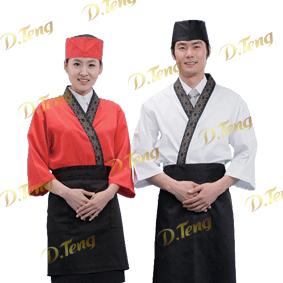 北京餐饮制服、夏季日本料理、夏季铁板烧师傅服装-丹腾服饰