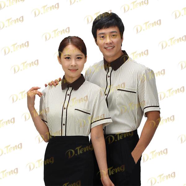 深圳夏季餐飲店服裝、快餐店夏季服裝、餐飲夏季服裝-丹騰服飾