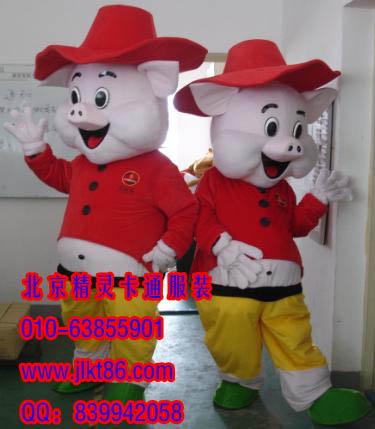 出售北京精灵卡通服装,西安卡通人偶,欢乐猪人偶服