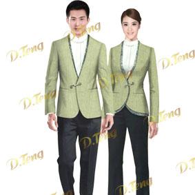 深圳夏季酒店服裝-酒店服務員夏季服裝-收銀服裝-丹騰服飾