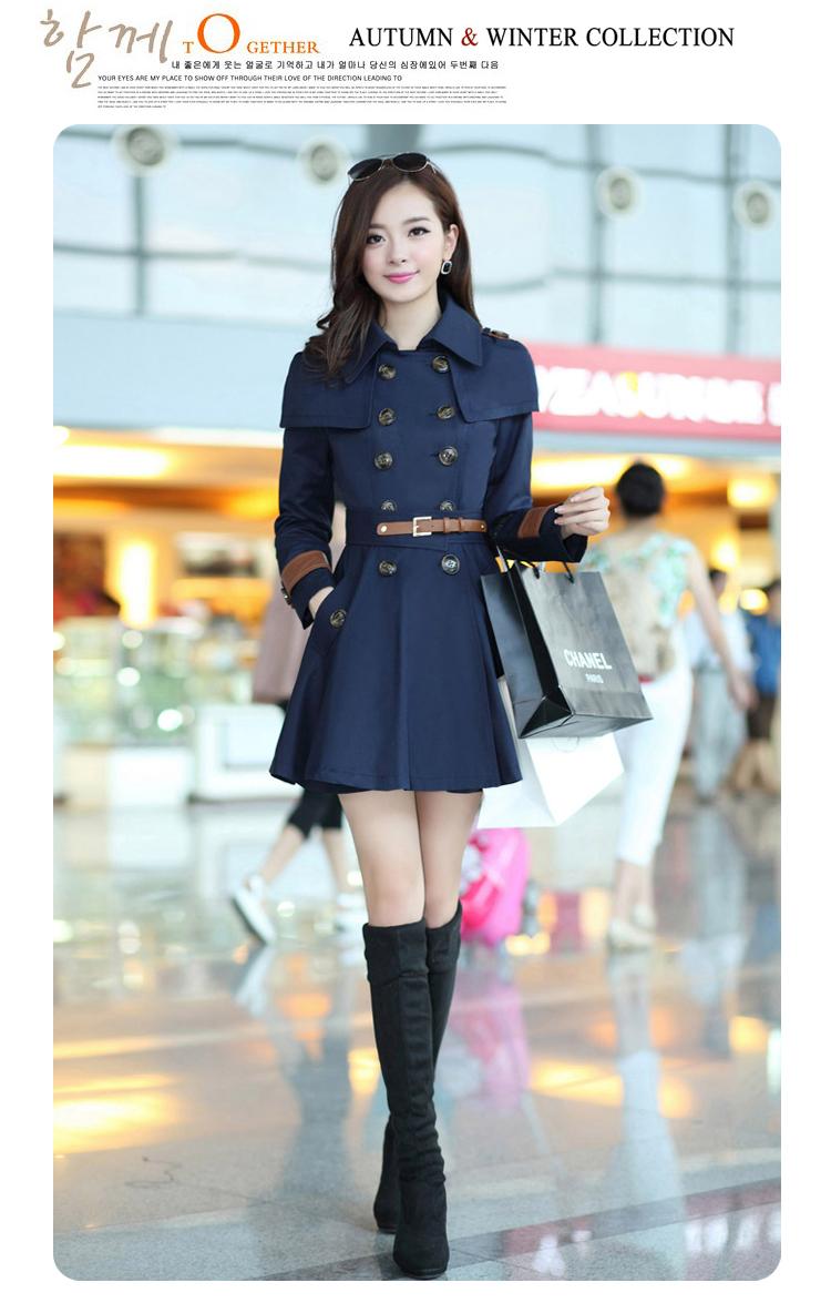 2014春装新款韩版甜美风衣