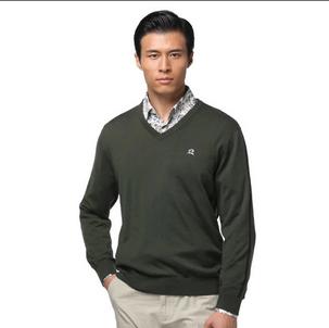 鄂尔多斯羊毛衫2013新款男装