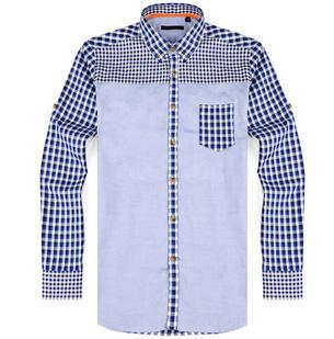海澜之家男装格子衬衫