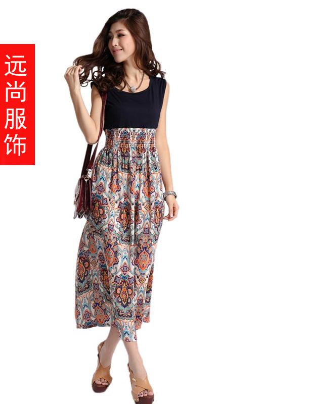 时尚的百褶中腰连衣裙批发今年流行夏季背心服装
