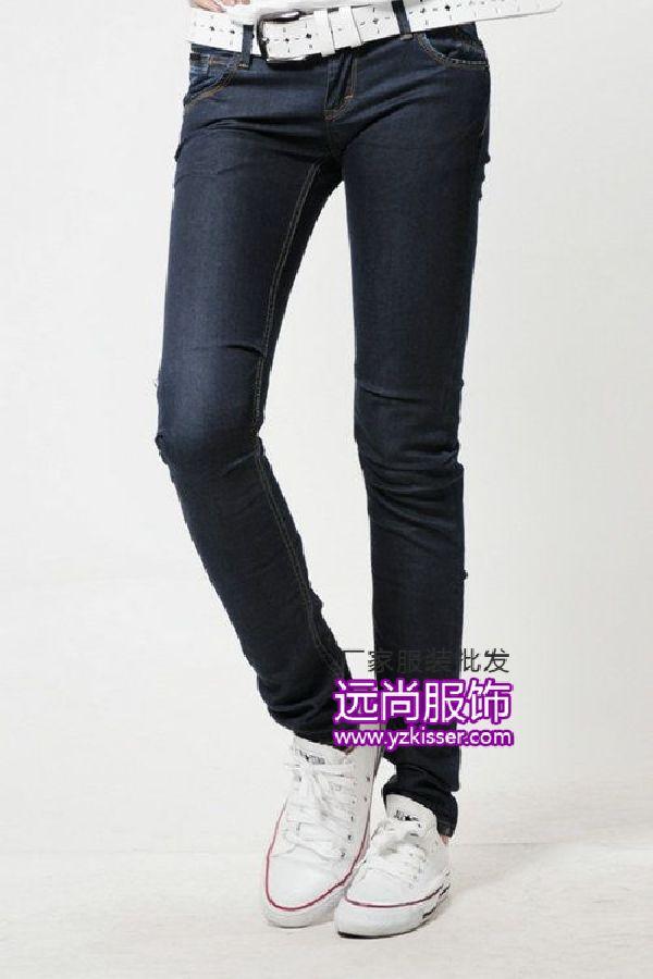 香港2014時尚的牛仔褲批發!廠家便宜的夏季服裝批發