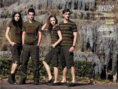 中国迷彩时尚服饰第一品牌|军旅服饰加盟|服饰加盟|东莞川越服饰2014最新加盟政策