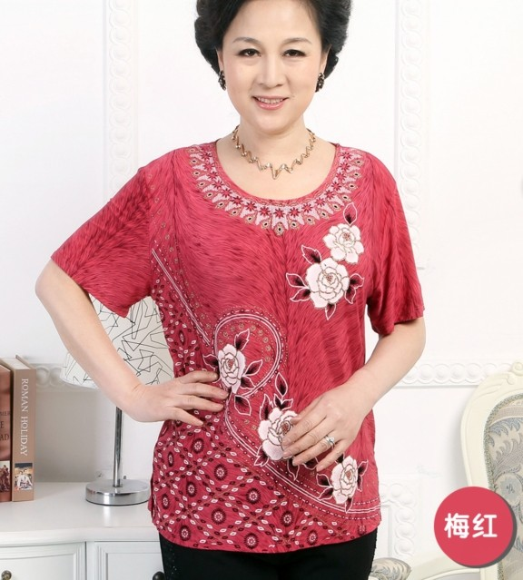 上海便宜師奶裝批發廣州沙河時尚便宜中老年服裝低價批發