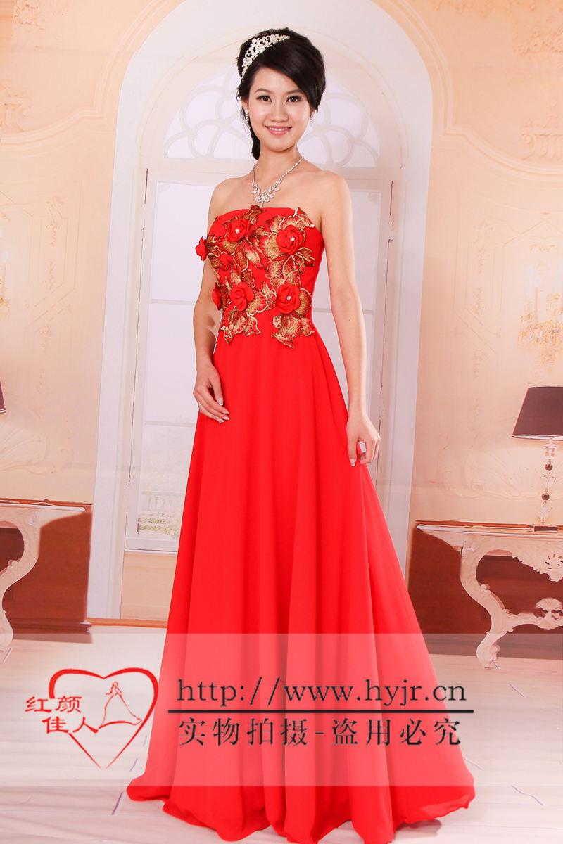 红颜佳人婚纱礼服旗袍龙凤褂厂家直销,新款已上市