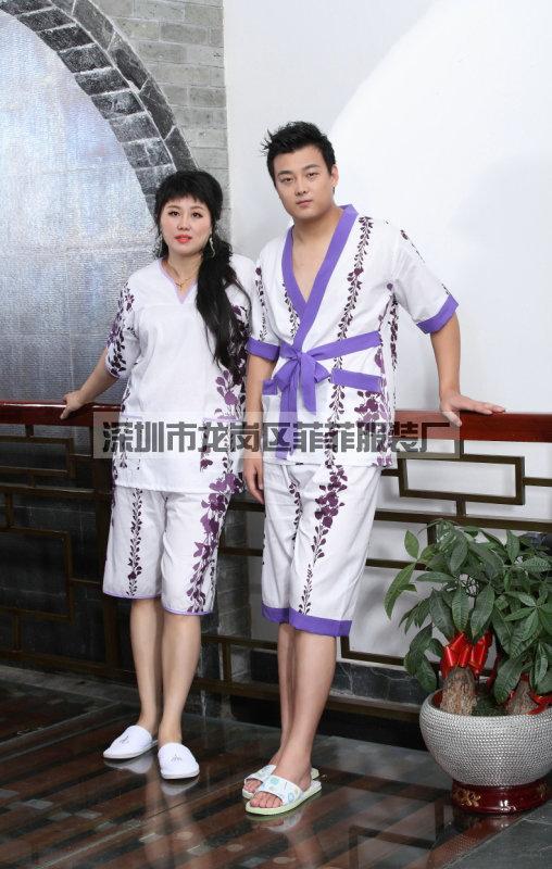 深圳汗蒸服生产厂家足浴服桑拿服厂家批发