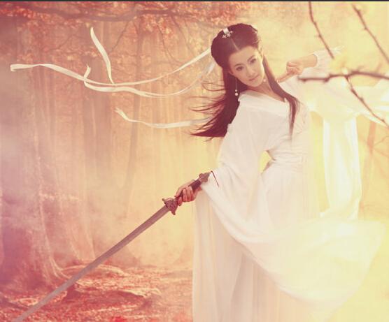 小龙女白色古装租赁七仙女服装定做租赁上海