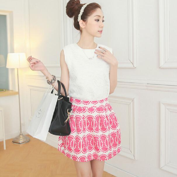 千姿惠蓬蓬半身裙短裙两件套时尚套装女