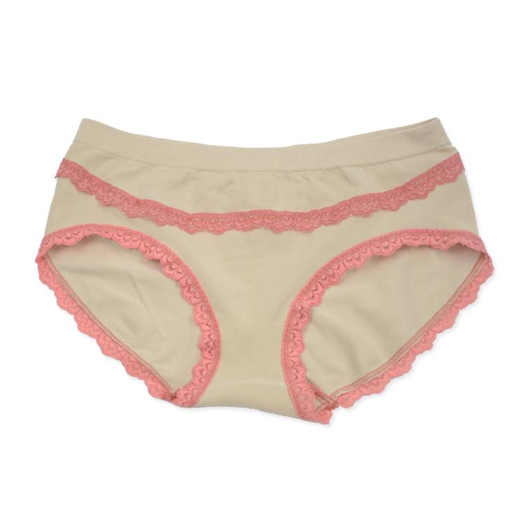 世嘉针织新品女士内裤无缝竹纤维蕾丝性感可爱透气内裤批发加工