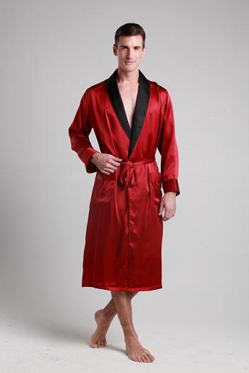 杭丝坊真丝绸睡袍