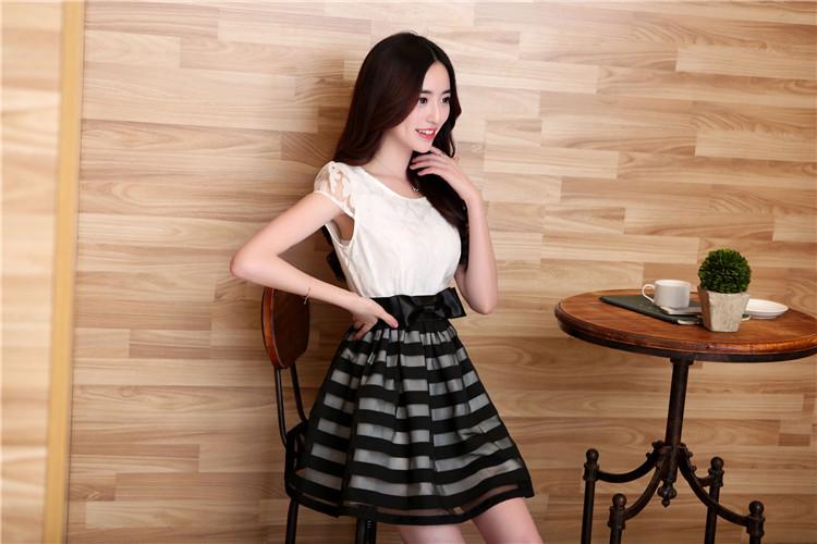 工厂直销女装批发2014夏季最流行的韩版连衣裙批发