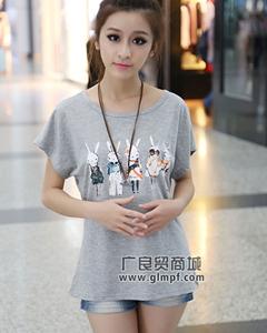 苏州夏季短袖T恤衫批发杭州夏季韩版女装批发