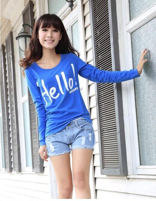 现在哪里有便宜秋季服装批发韩版低价长袖T恤批发