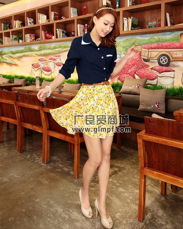 夏季雪纺短裙批发夏季女装吊带裙批发女装韩版裙子