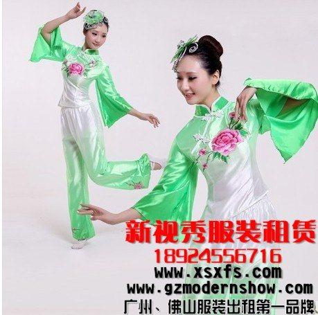 佛山民族舞蹈服装出租 秧歌舞蹈服租赁 扇子舞蹈服租借