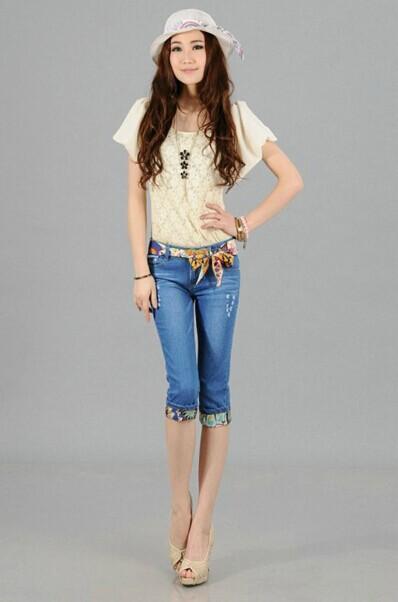 2014夏装流行款式2014年最流行的夏装,韩版便宜牛仔裤批发