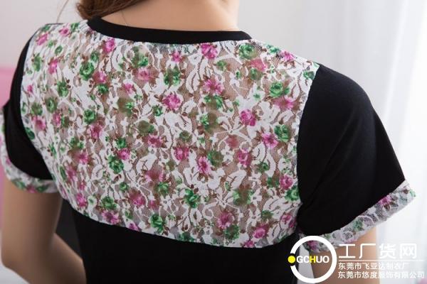 厂家直销服装批发网  后背蕾丝镂空T恤  14.5元