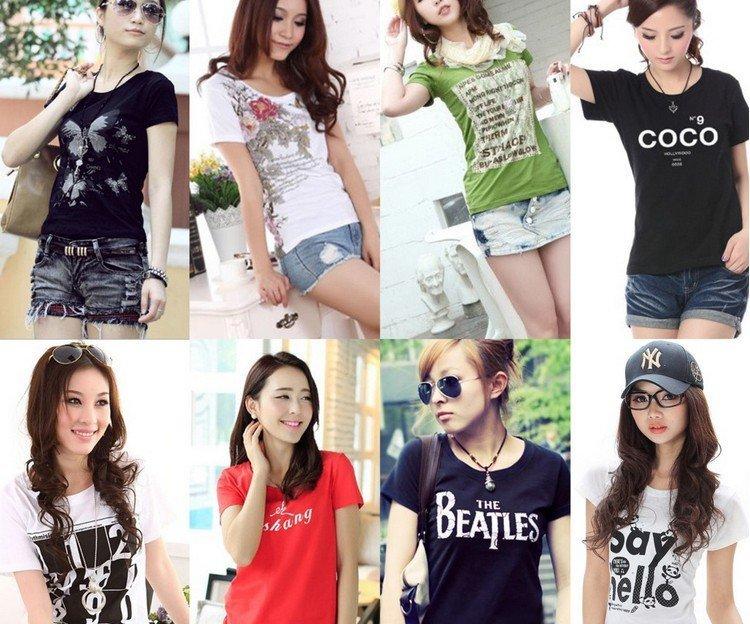 重庆朝天门服装批发便宜短袖T恤厂家批发最低价时尚个性T恤批发
