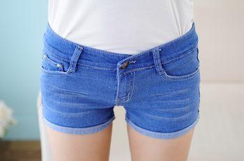 新款时尚便宜批发短裤大码牛仔短裤印花短裤批发