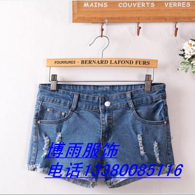 十三行特价短裤清仓广州沙河便宜女式牛仔短裤批发沙河最便宜弹力七分裤女装低价处理