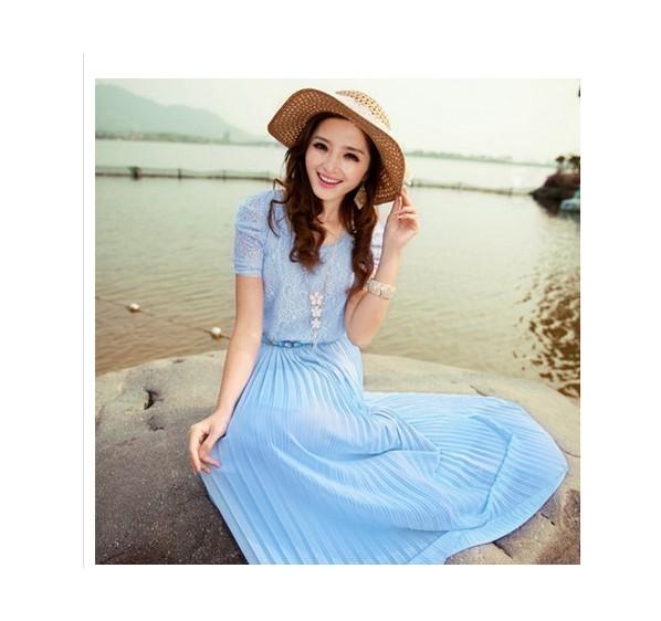 安徽宝文供应夏季韩版雪纺连衣裙批发清仓雪纺裙子批