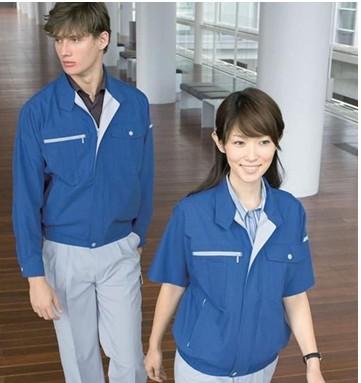 定做夏季短袖透气排汗工装工作服 职业西服