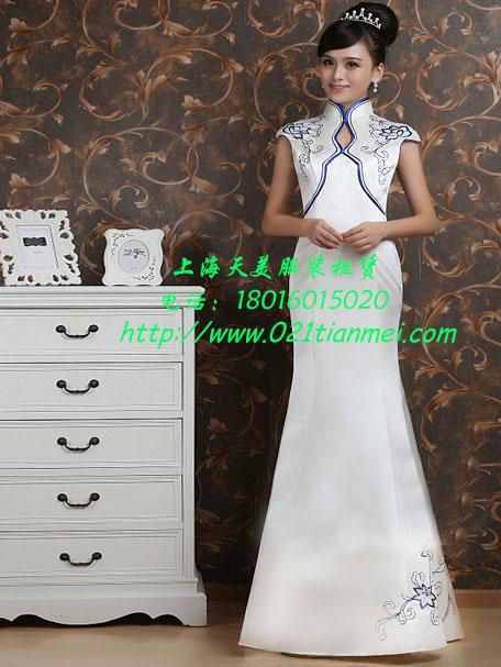 青花瓷奥运旗袍出租礼仪旗袍租赁车模服装出租