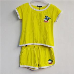 大嘴猴休闲时尚短袖短裤套装 纯棉短衣女士运动装