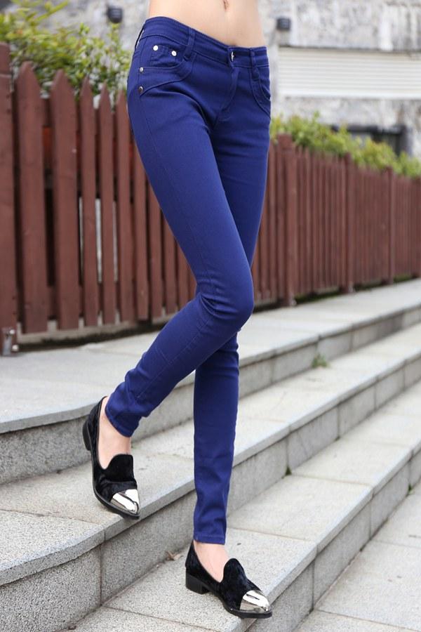 时尚韩版中长款修身女装T恤批发糖果色小脚裤厂家直销