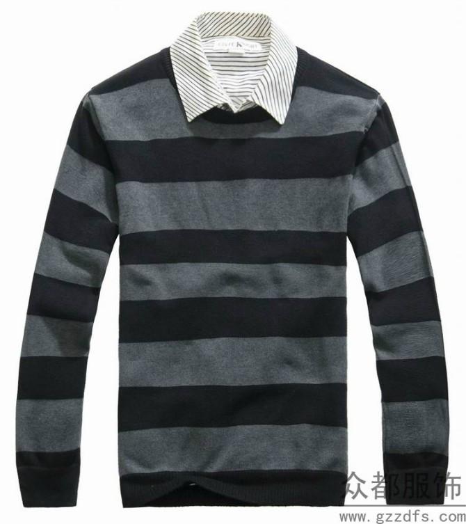 杂款男士羊毛衫东莞大朗批发市场韩版印花打底衫便宜批发