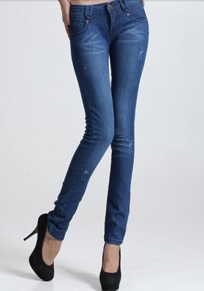 2014新款牛仔裤 女式牛仔裤批发 小脚铅笔裤牛仔裤厂家直销货源
