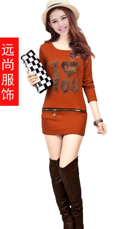 2014最爆款长袖羊绒裙批发厂家最低价处理打底衫