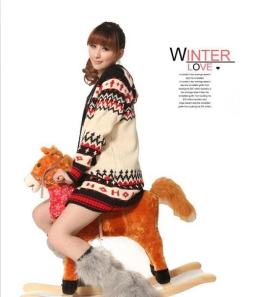 秋冬装韩版女装开衫毛衣针织衫打底棉服外套批发