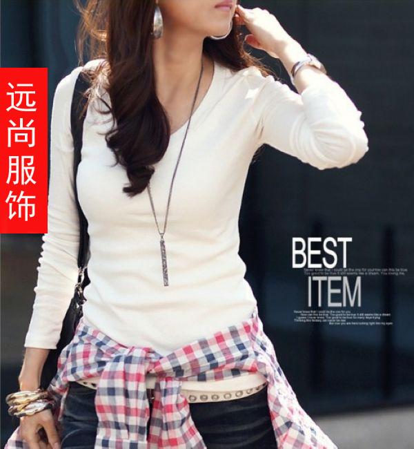 最韩版撞色打底衫批发最热销美丽款长袖卫衣批发
