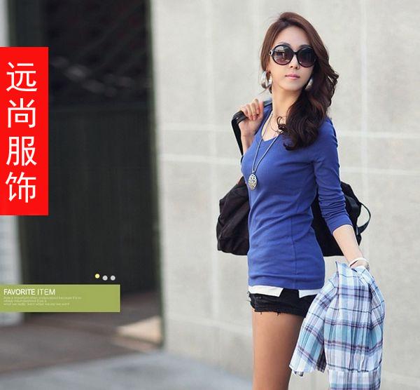 福建莆田哪里有便宜的女士秋装牛仔裤长袖T恤批发?