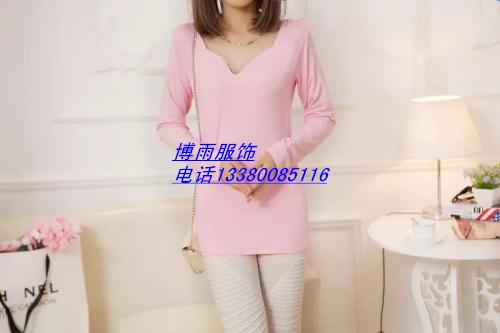 秋季低价女式长袖T恤---沙河秋季便宜打底衫批发