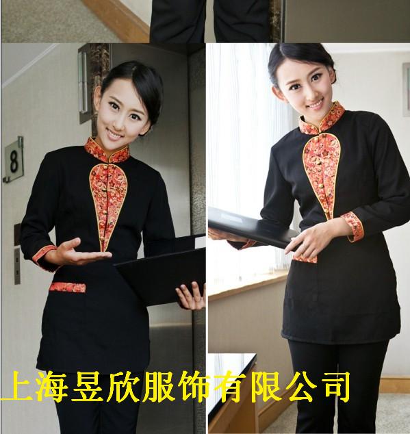 定做上海酒店服务员服装