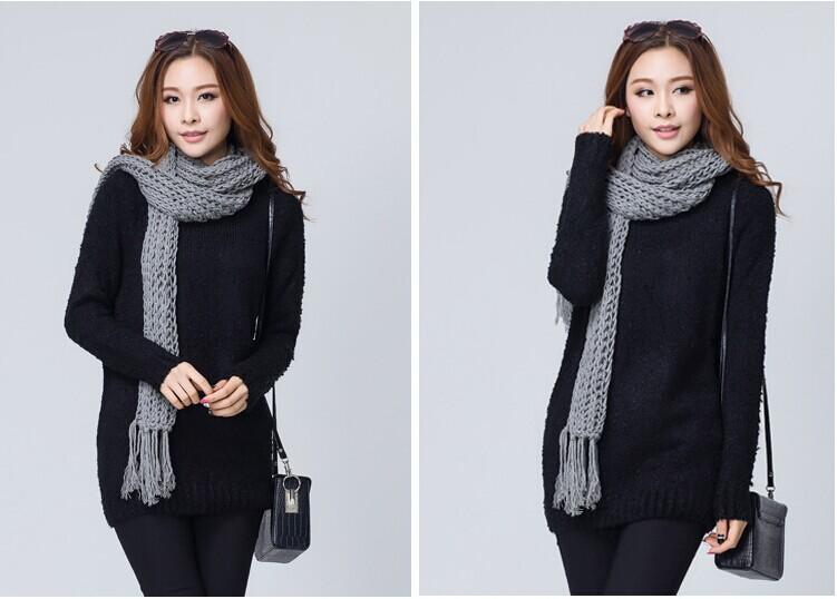韩版长款毛衣批发时尚女装杂款毛衣供应清仓