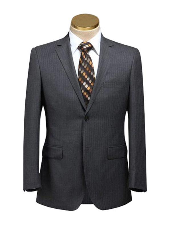 威仕顿韩版修身男士西服套装 职业西服定做 西装定制 套装