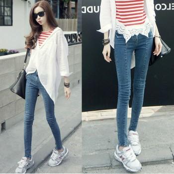 广州哪里有牛仔裤批发厂家哪里有厂家尾货几元韩版小脚牛仔裤批发