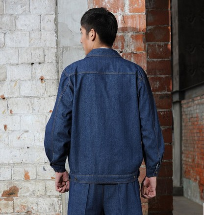 成都牛仔短袖工作服接受定做,批发 成都庞哲服装厂